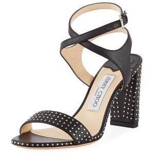 Jimmy Choo studded Marine Sandals chunky heels
